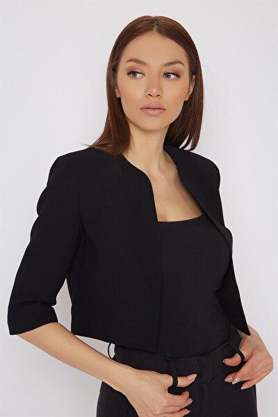 Kadın Siyah Mini Ceket