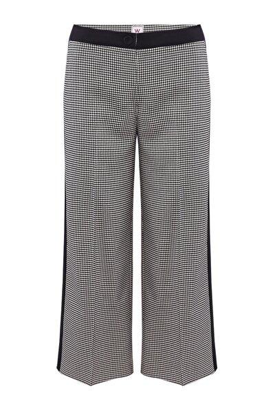 Kadın Siyah Beyaz Kareli Pantolon