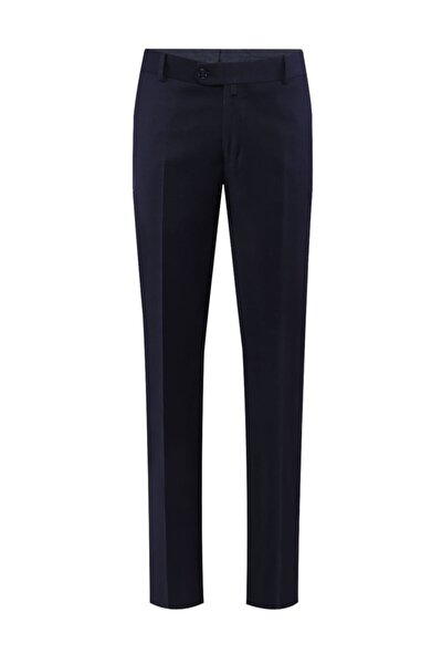 Flanel Klasik Lacivert Pantolon