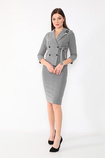 Kadın Gri Takım Elbise