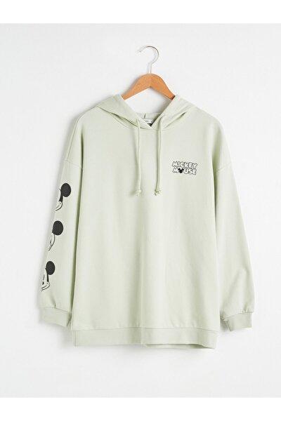 Mickey Mouse Kadın Açık Yeşil G8D Sweatshirt