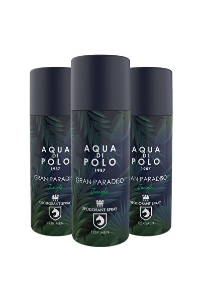 Aqua Di Polo Gran Paradiso Jungle 3'lü Parfümlü Deodorant Seti Stcc004601
