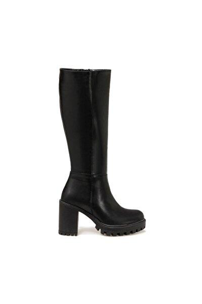 20K-076 Siyah Kadın Ökçeli Çizme 100572886