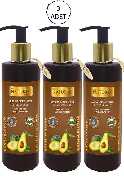 Avokado Yağı Özlü 250 ml Organik Günlük Bakım Kremi Nemlendirici El - Yüz - Vücut Bakım Kremi