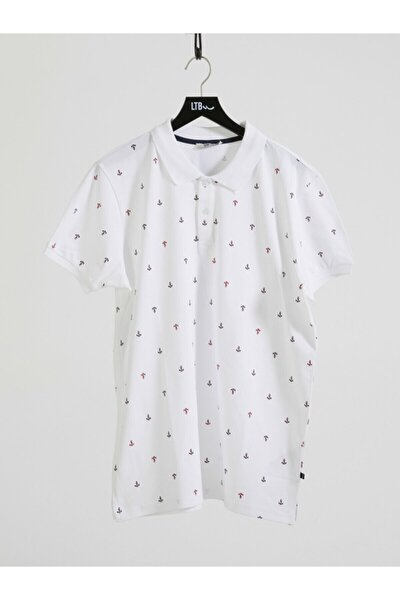 Erkek  Beyaz Polo Yaka T-Shirt 012208435060890000