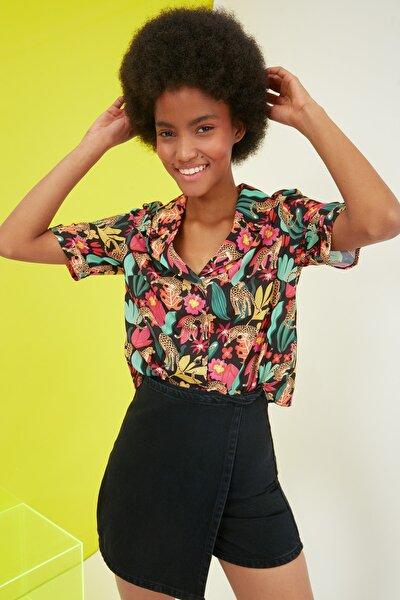 Çok Renkli Baskılı Gömlek TWOSS21GO0420