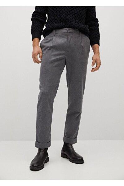 Erkek Gri Pilili Jogging Pantolon
