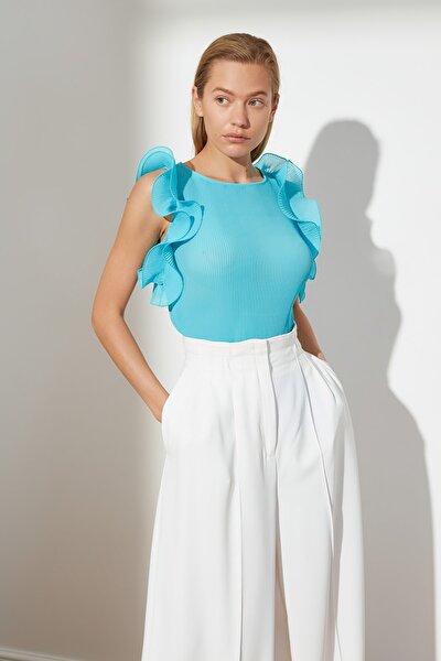 Mavi Omuz Detaylı Bluz TWOSS21BZ0961