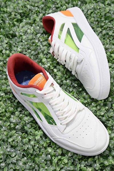 Beyaz Oranj Erkek Sneaker E01871000209