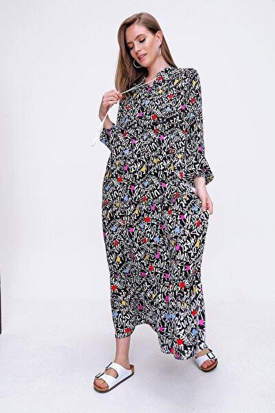 10313 Volanlı Tesettür Elbise