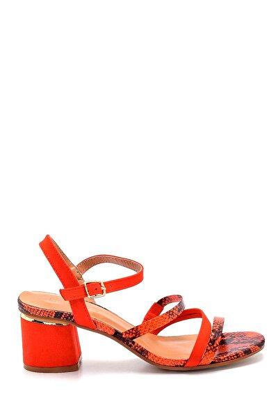 Kadın Kırmızı Topuklu Sandalet