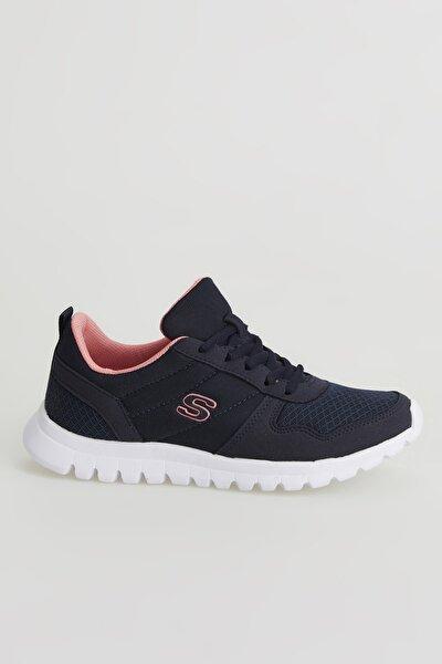Unisex Lacivert Somon  Ortopedik Sneaker Spor Ayakkabı