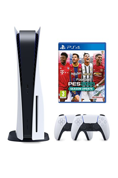 Playstation 5 825 GB + 2. PS5 DualSense + PS5 Pes 21