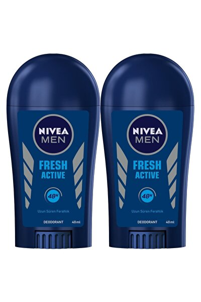 Men Fresh Active Erkek Deodorant Stick 40 ml  2'Li