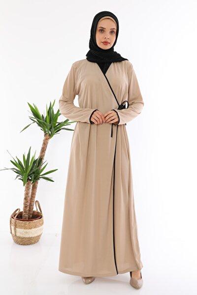 Yandan Bağlamalı Namaz Elbisesi Vizon