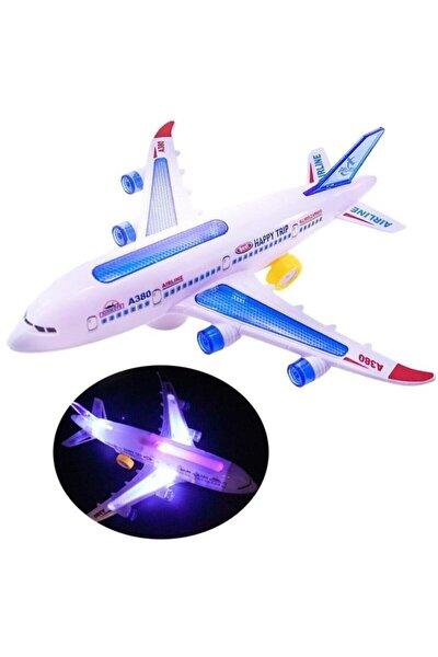 Hareketli Pilli Işıklı Aırbus Uçak