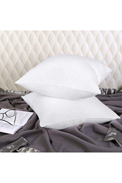 Premium Kırlent Antibakteriyel Elyaf Dolgu 2 Adet Beyaz Yastık Kırlent Iç Dolgusu 45 X 45 Cm 300 gr