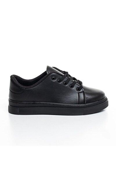 Unisex Siyah Sneaker Günlük Spor Ayakkabı