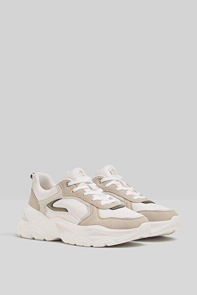 Kontrast Kalın Tabanlı Spor Ayakkabı