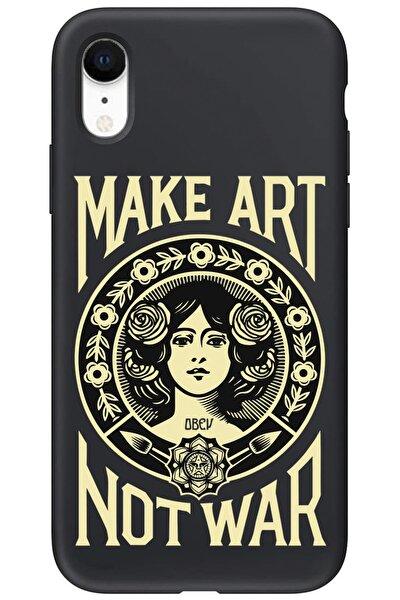 Iphone Xr Siyah Lansman Make Art Not War Telefon Kılıfı