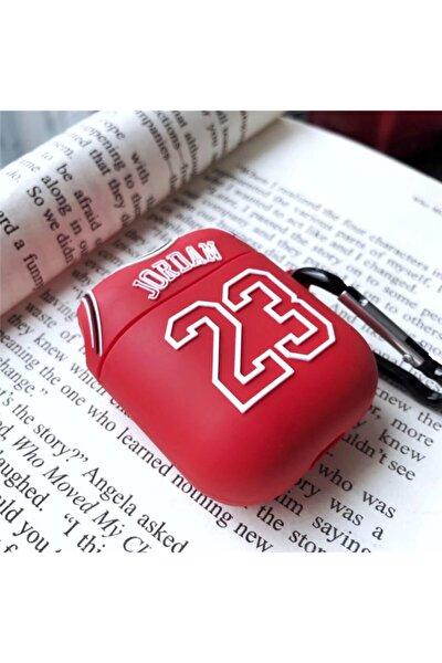 Sevimli Kırmızı Jordon Airpods 1. Ve 2. Nesil Silikon Kılıf