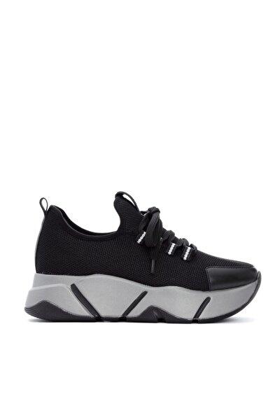 Kadın Siyah Tekstıl Vegan Sneakers & Spor Ayakkabı 784 Ak1980 Bn Ayk Sk20-21