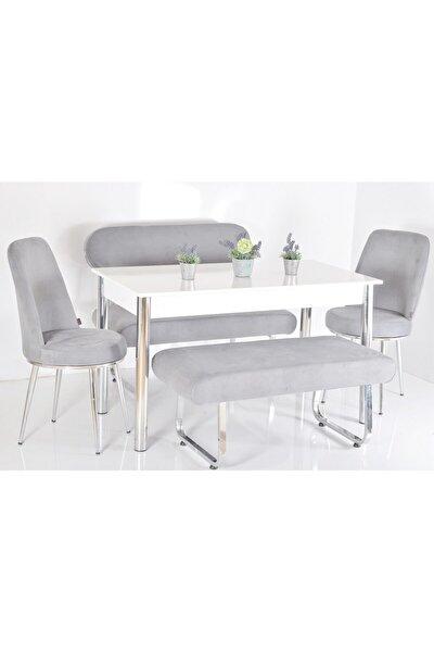 Banklı 6 Kişilik Masa Sandalye Takımı