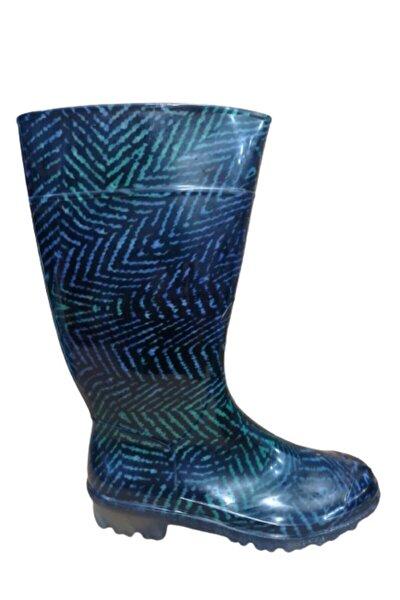 Kadın Siyah Yağmur Çizmesi G0786-01