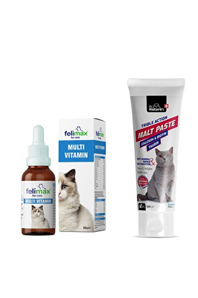 Drnatures Kediler Için Multivitamin 50 ml Biotin Malt