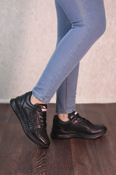 Siyah Siyah Taban Unisex Spor Ayakkabı