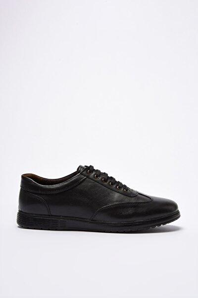 Hakiki Deri Siyah Erkek Sneaker 02AYY202300A100