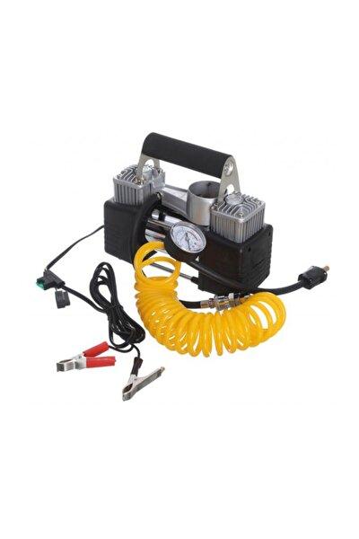 Araç Oto Lastik Şişirme Kompresörü Pompası Çift Pistonlu