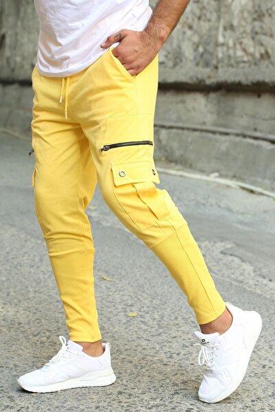 Erkek Sarı Fermuar Cepli Eşofman 2937
