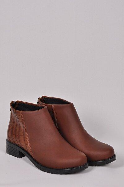 Kadın Kahverengi Kısa Topuklu Bot