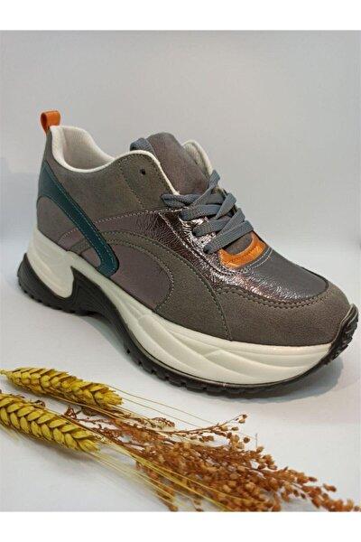 Kadın Gri Süet Spor Ayakkabı 30230