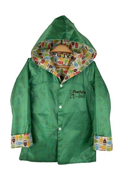 Unisex Çocuk Yeşil Yağmurluk Rüzgarlık