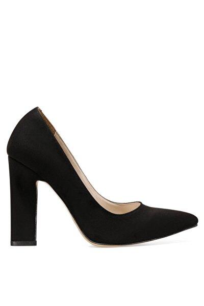 Flamur Siyah Kadın Topuklu Ayakkabı