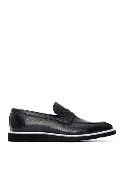 Erkek Siyah Deri Ayakkabı 610 2181
