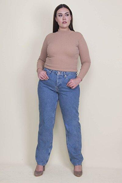 Kadın Mavi 5 Cepli Kot Pantolon 65N21310