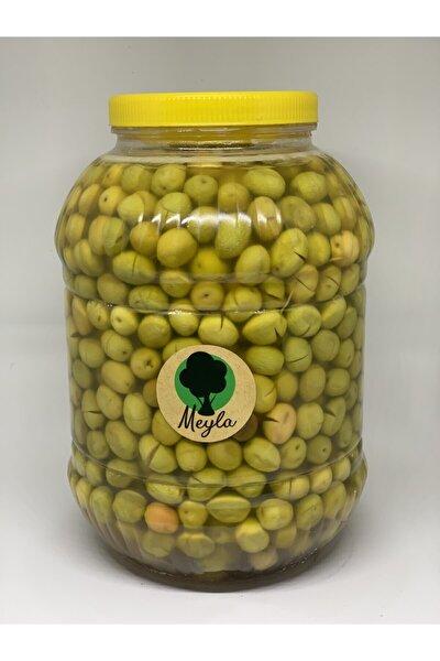 Meyla Doğal Hatay Yeşil Kırma Zeytin 5 Kg Lık Bidon