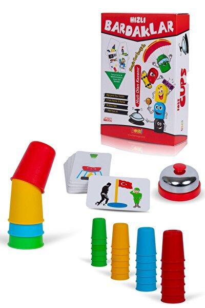 Süper Hızlı Pratik Bardaklar Akıl Hafıza Mantık Eğitici Zeka Strateji Çocuk Ve Aile Kutu Oyunu