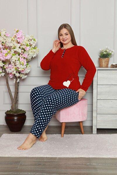 Kadın Büyük Beden Polar Pijama Takımı