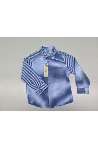 Erkek Çocuk Mavi Çizgili Gömlek