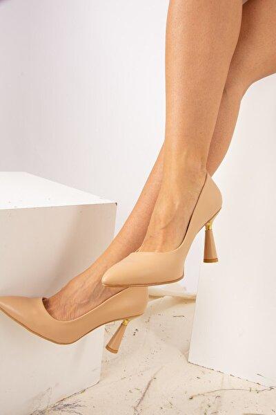Kadın Bej Topuklu Ayakkabı J922172809