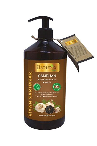 Kokusuz Tuzsuz Siyah Sarımsak Şampuanı 600 ml Sarımsak Özlü Şampuan ( Paraben Fosfat Tuz Içermez )