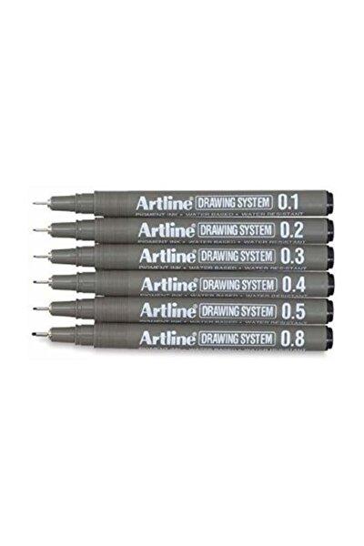 Drawing System Teknik Çizim Kalemi 6'lı Set