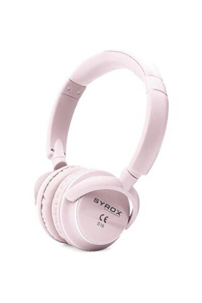 Kulaküstü Kablosuz Bluetooth Kulaklık Hafıza Kartı Girişli S16 Pembe Suntech
