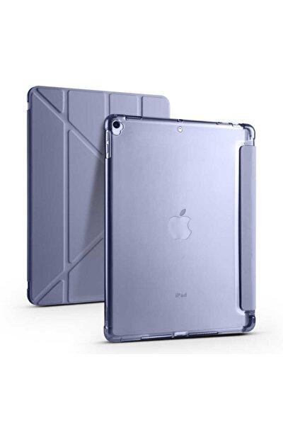 """Apple Ipad 8. Nesil 10.2"""" Kılıf Kalem Bölmeli Tri Folding Smart Standlı Yumuşak Silikon Tam Koruma"""