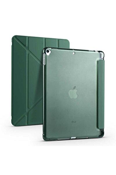 """Apple Uyumlu Ipad 8. Nesil 10.2"""" Kılıf Kalem Bölmeli Tri Folding Smart Standlı Yumuşak Silikon Kılıf"""