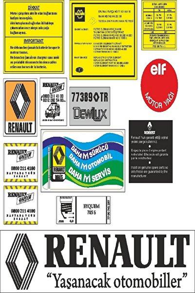 Renault Etiket Takımı Full Set
